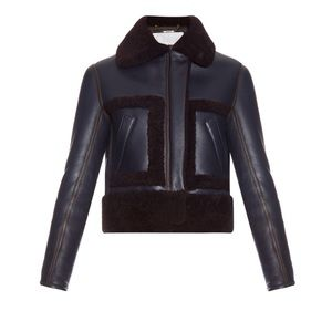 ❌SOLD❌CHLOÉ Shearling Cropped Aviator Jacket